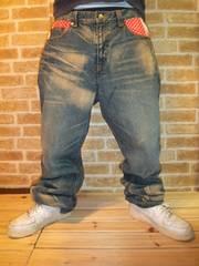 値下げ!★フェノメノン鬼加工&刺繍デニムW34♪スワッガー大きいサイズ