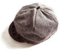 新品 レディース 帽子 キャスケット 茶 ブラウン