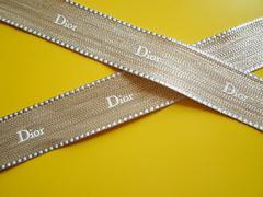 新品diorディオール極太ゴールドリボンテープデコパーツハンドメイド手芸リメイク飾り
