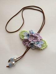ハンドメイド ネックレス パープルの紫陽花♪ ナチュラル 紫