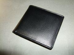 【即決/激安】本革ベーシック2つ折財布 新品 黒