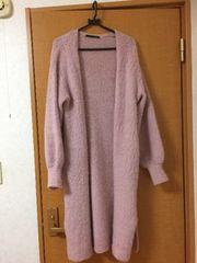 ブークレ/ロングカーディガン/ピンク色/美品