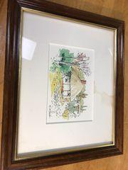 三阪雅彦、水彩画。スペイン風景。