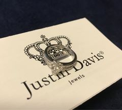 新品◆JUSTIN DAVIS◆TINY SKULL BAND RING◆スカルリング◆16号