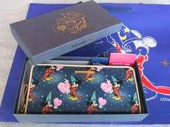 新品専用箱有◆サマンサベガD23 EXPOミッキー長財布ブルー