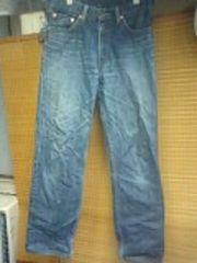 リーバイス502若干細身色落ちジーンズ