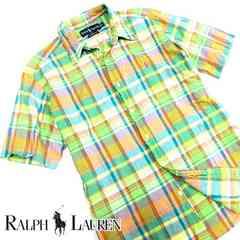 美品!! Ralph Lauren ラルフローレン 半袖チェックシャツ O28