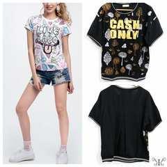 925-303246大きいサイズ☆バックシースルーTシャツ☆4L