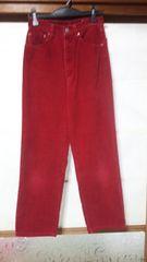 BOBSONボブソンの赤いジーンズお安く(B-390