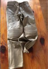 コムサ メンズ用牛革ズボン サイズ2 ベージュ色
