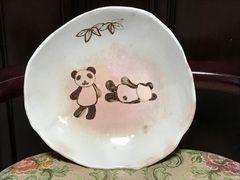 手作りハンドメイド陶器★パンダ 絵皿★パンダ イラスト 大皿