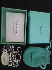 ■正規品 TIFFANY オーバル タグネックレス 美品■