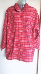 ほぼ新品*HANESヘインズ*チェックパジャマ*上のみ*ネルシャツ ルームウェアLサイズ