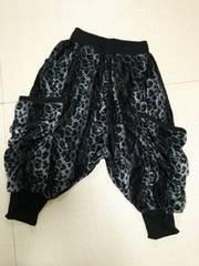 新品◆Clash◆ベロアグレー系レオパード裾絞りサルエルパンツM