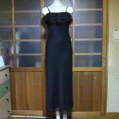 ROSAブラック シンプル ドレス