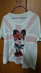 ミニーマウス★4L Tシャツ★グリーン系