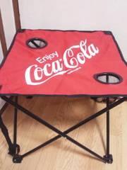 コカコーラビーチテーブル(折り畳み式)ドリンクホルダー*キャリーバッグ付レッド