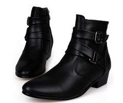 メンズブーツ ショットブーツ レザー 革靴24.5cm~28cm/AK556