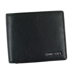 ★ディーゼル HIRESH S 2つ折財布(BK)『X04459』★新品本物★