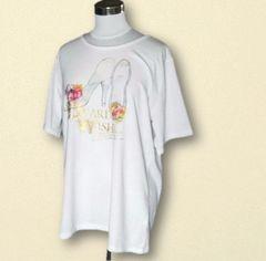 ハイヒールホワイトTシャツ4L大きいサイズ