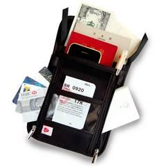 パスポートケース 首下げ スキミング防止 ブラック