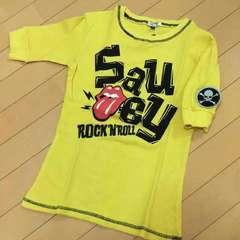 新品◆ローリングストーンズ◆ワッフル五分袖Tシャツ◆130