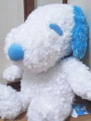 SNOOPY/スヌーピーギガジャンボローズボアぬいぐるみ60�pブルー