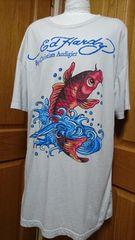 ☆ED HARDYsplash鯉フィッシュTシャツ
