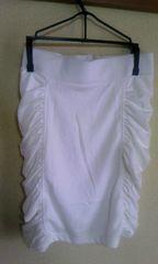 白タイトシャーリングスカートS