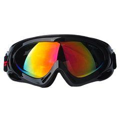 ゴーグル スキー スノボー UVカット ブラック