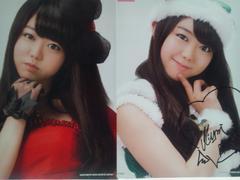 AKB48クリスマスプレゼント一番くじポスター2種類 峯岸みなみサイン入り