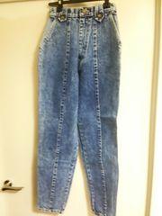 新品 デニム ズボン ジーパン ビンテージ ダメージ加工 日本製 タグ付き