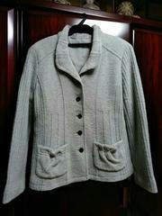ミセス→水色 ウールジャケット 春秋用 Mサイズ
