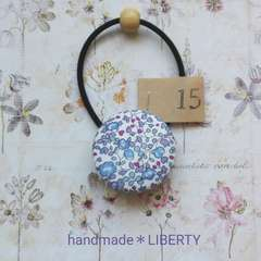 【15】handmade*くるみボタン*ヘアゴム*リバティ*LIBERTY