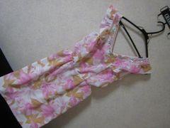 デイジーストア/新品同様花柄ドレス/ピンクLサイズ袖フリル