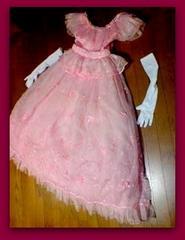 中古本物ピンクウエディングロングドレス結婚式衣装
