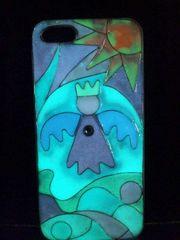 光る天使(^O^)ステンドグラス風iPhone5&5S用ハードケースホワイト