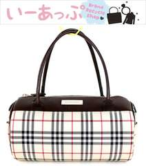 ◆美品!バーバリー ミニボストン ハンドバッグ e603