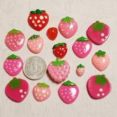 A ☆ 16コ ☆ いちご 苺 イチゴ ☆ デコパーツ