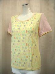【レ・コパン】【未使用品】パステルカラープリントTシャツ