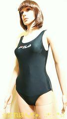☆美品☆FILA☆定番の光沢シンプルロゴ競泳水着2342☆3点で即落