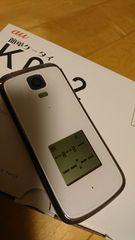 新品同様レベル。K012ホワイト。簡単ケータイのフルセット
