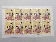 【未使用】1959年 切手趣味週間 浮世源氏八景 1シート