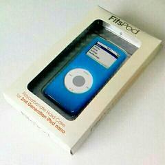 第2世代 iPod nano 専用 ハードケース 水色 ポリカーボネイト製