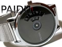 【新品・未使用】PAIDU ターンテーブル型 センスある腕時計