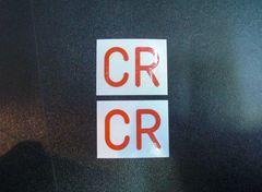 CRステッカー赤FCRRZ250RZ350XJ400DGX250GX400