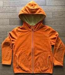 64■UNIQLO パーカー フリース オレンジ 120cm 切手払い可能
