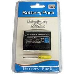 【パッケージ品】3DS 2000mAh 大容量互換バッテリー 工具セットc