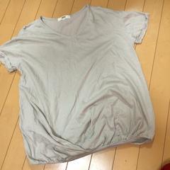 オゾックOZOC◆綿麻ゆったりTシャツ◆半袖グレー