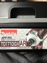 �Aインパクトドライバー makita TD171DGX  AR